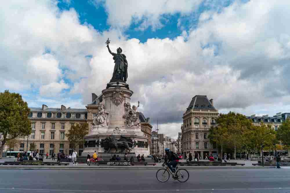 Place de la République in Paris in France