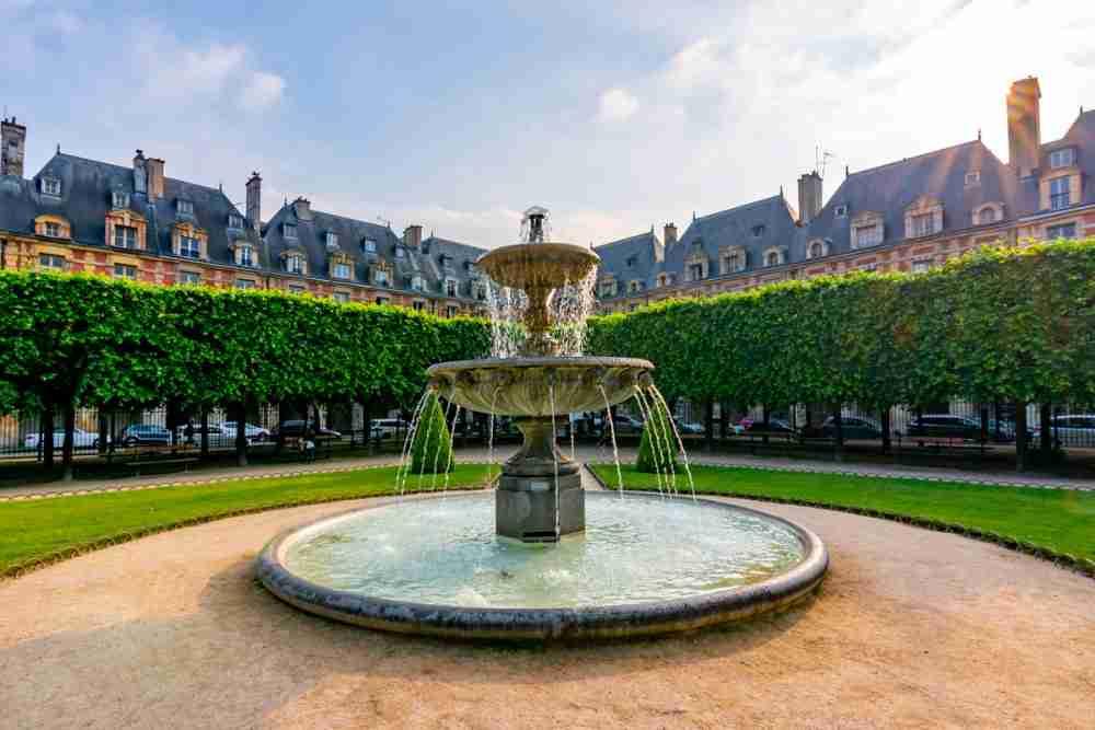 Place des Vosges in Paris in France