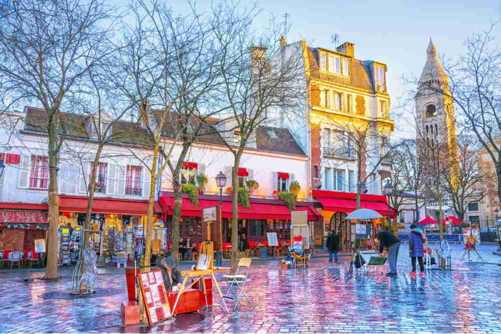 Place du Tertre in Paris in France