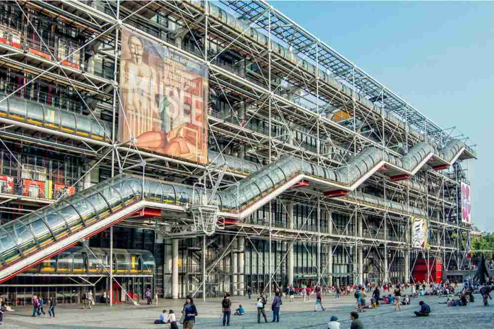 Pompidou Center in Paris in France