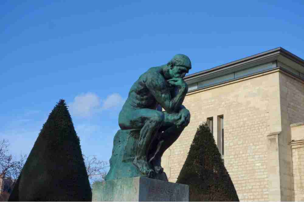 The Thinker in Paris in France