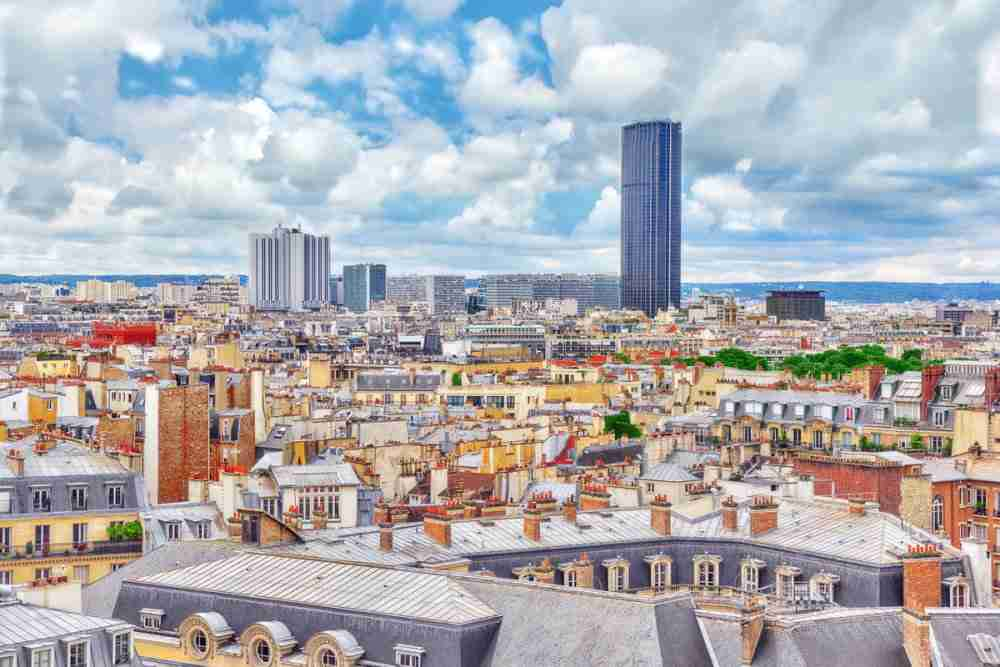 Tour Montparnasse in Paris in France