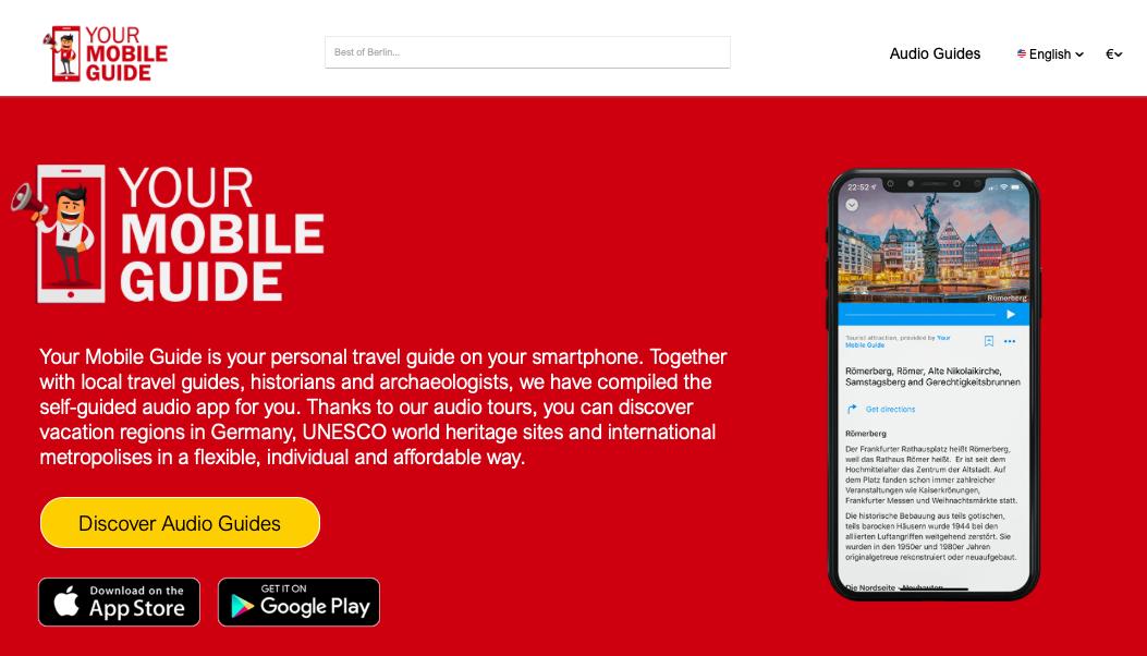 Your Mobile App Website Visual - AudioGuide Paris