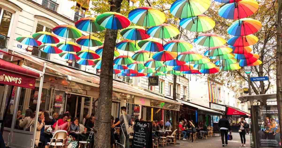 Le Marais Quarter's Top Attractions in Paris (Editorial)
