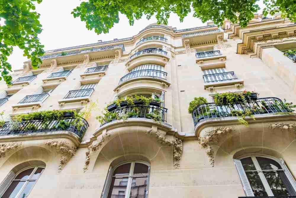 balconies in Paris in France