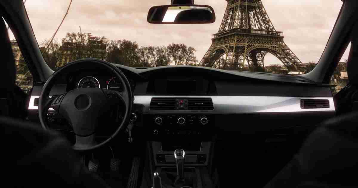 car in Paris in France