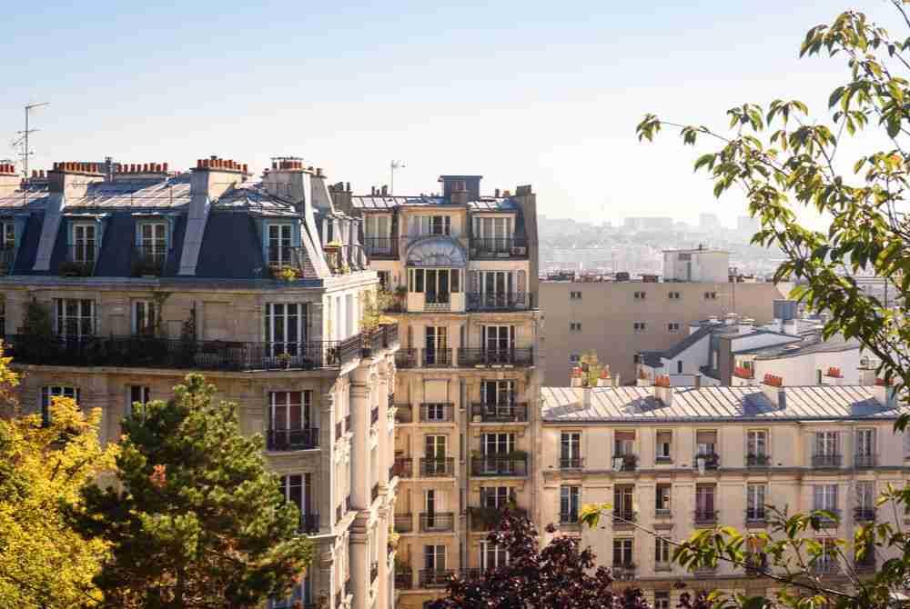 paris street in Paris in France