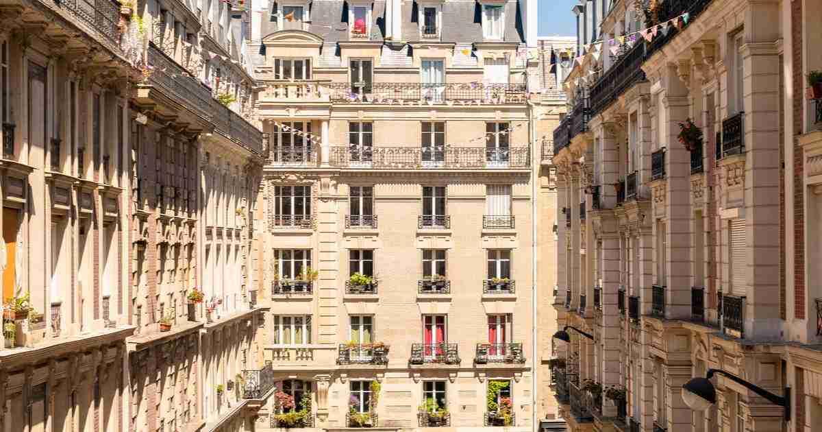 paris view in Paris in France