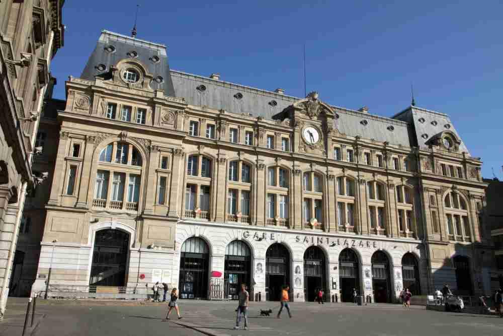 Gare St. Lazare in Paris in France